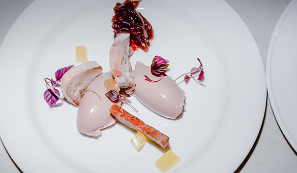 a starter plated up at a recent Function Caterers event